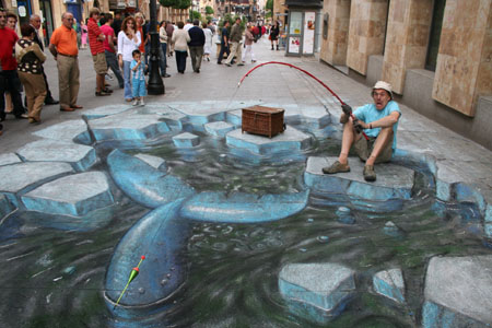 Drawing by Julian Beever