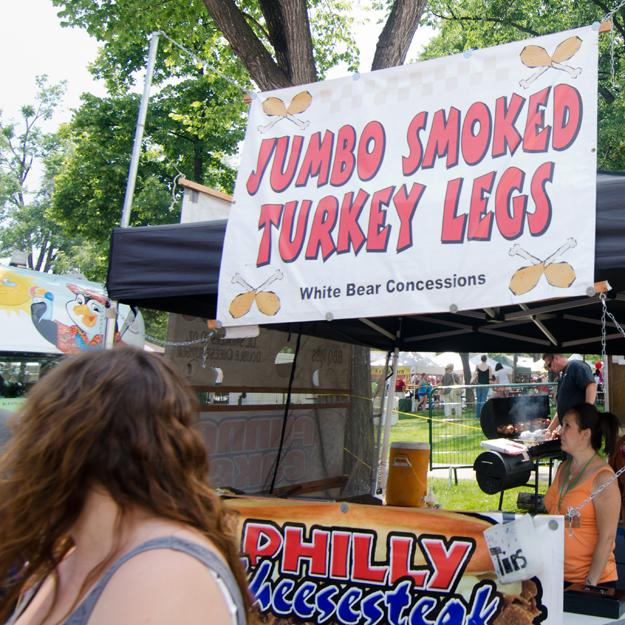The food fair classic jumbo turkey leg was on sale at this year's Taste of Fort Collins. Photo: Nic Turiciano for the Collegian