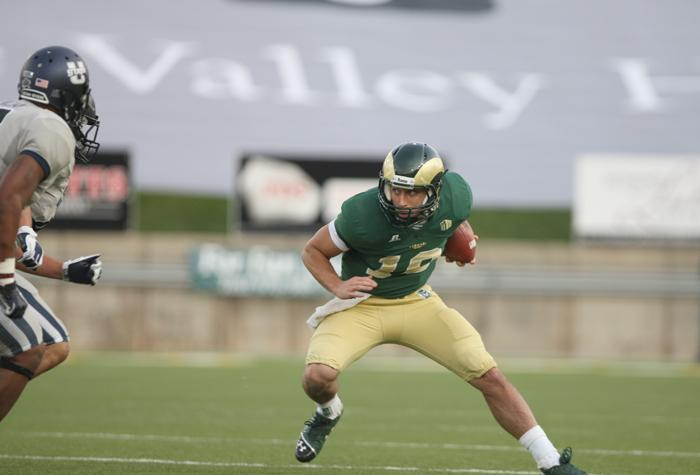 The Colorado State University Rams take on the Utah State Aggies on Saturday an Huges Stadium.