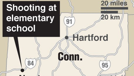 School Shooting on Shooting At Elementary School In Conn Caption Map Locating Newton