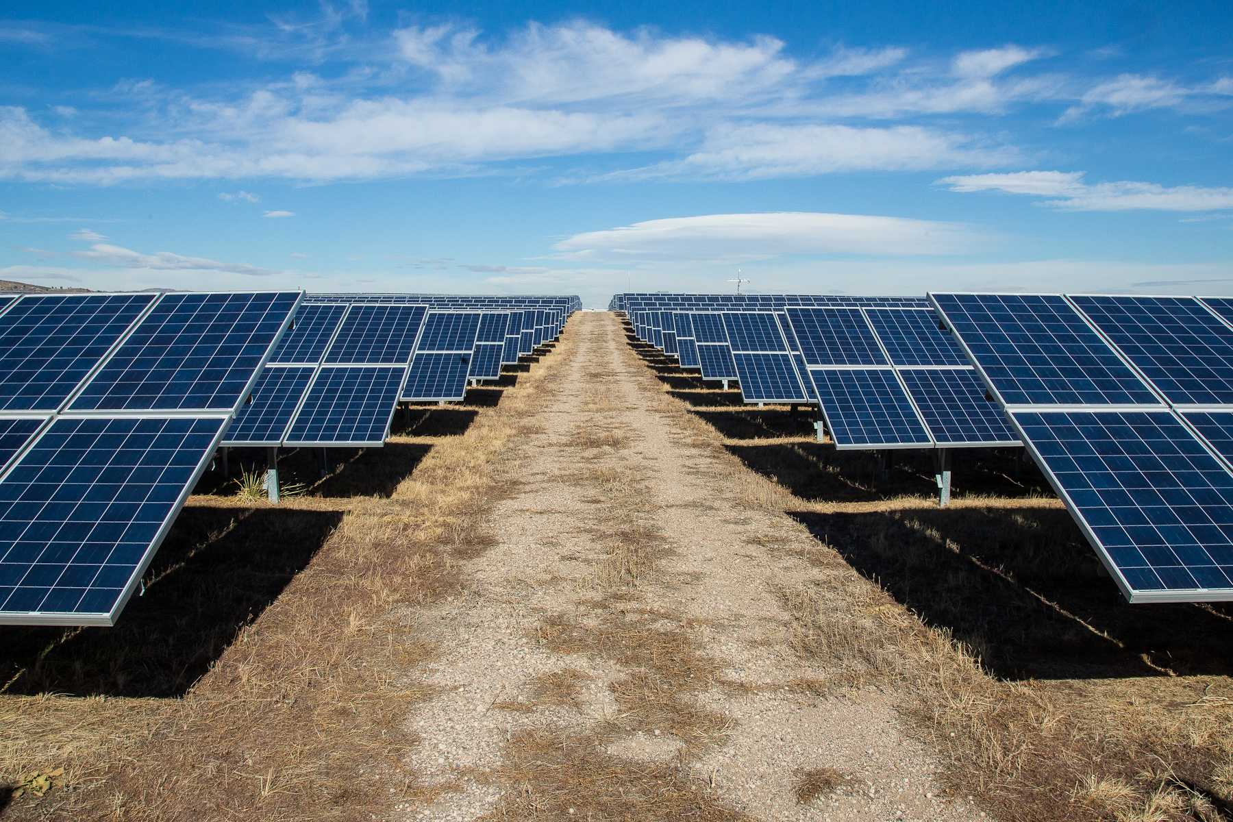 The Colorado State University Solar Plant, located off of Laporte Ave. and Overland Trail, sits on 30 acres of land and harvests enough energy to power the CSU Foothills Campus.