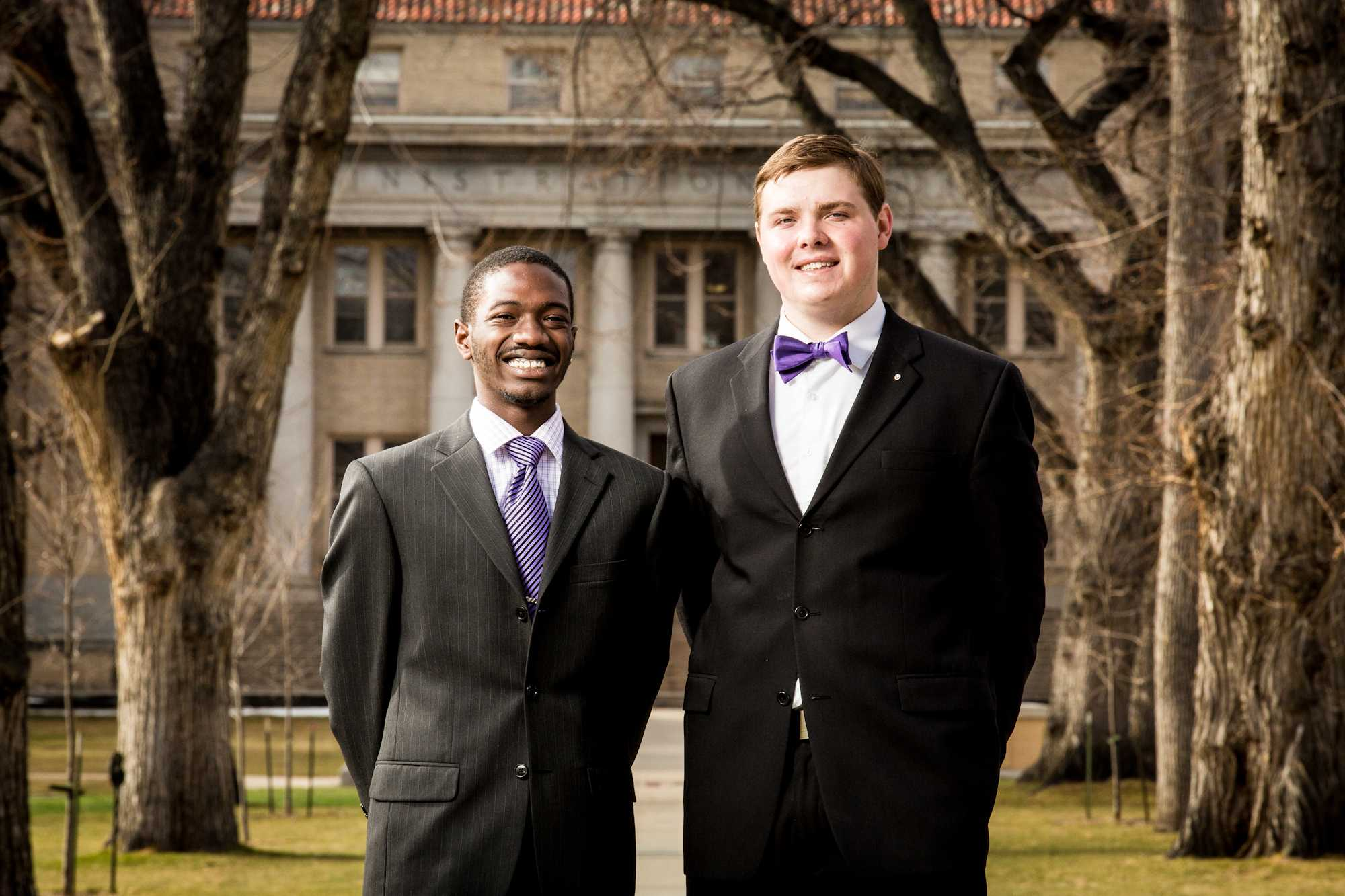 Nigel Daniels, left, and Andrew Olson. ASCSU President and Vice President candidate.