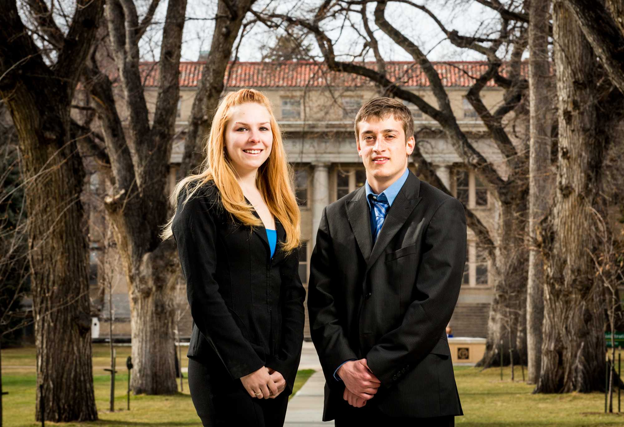 Wendy Bowling, left, and John Stockley. ASCSU President and Vice President candidate.