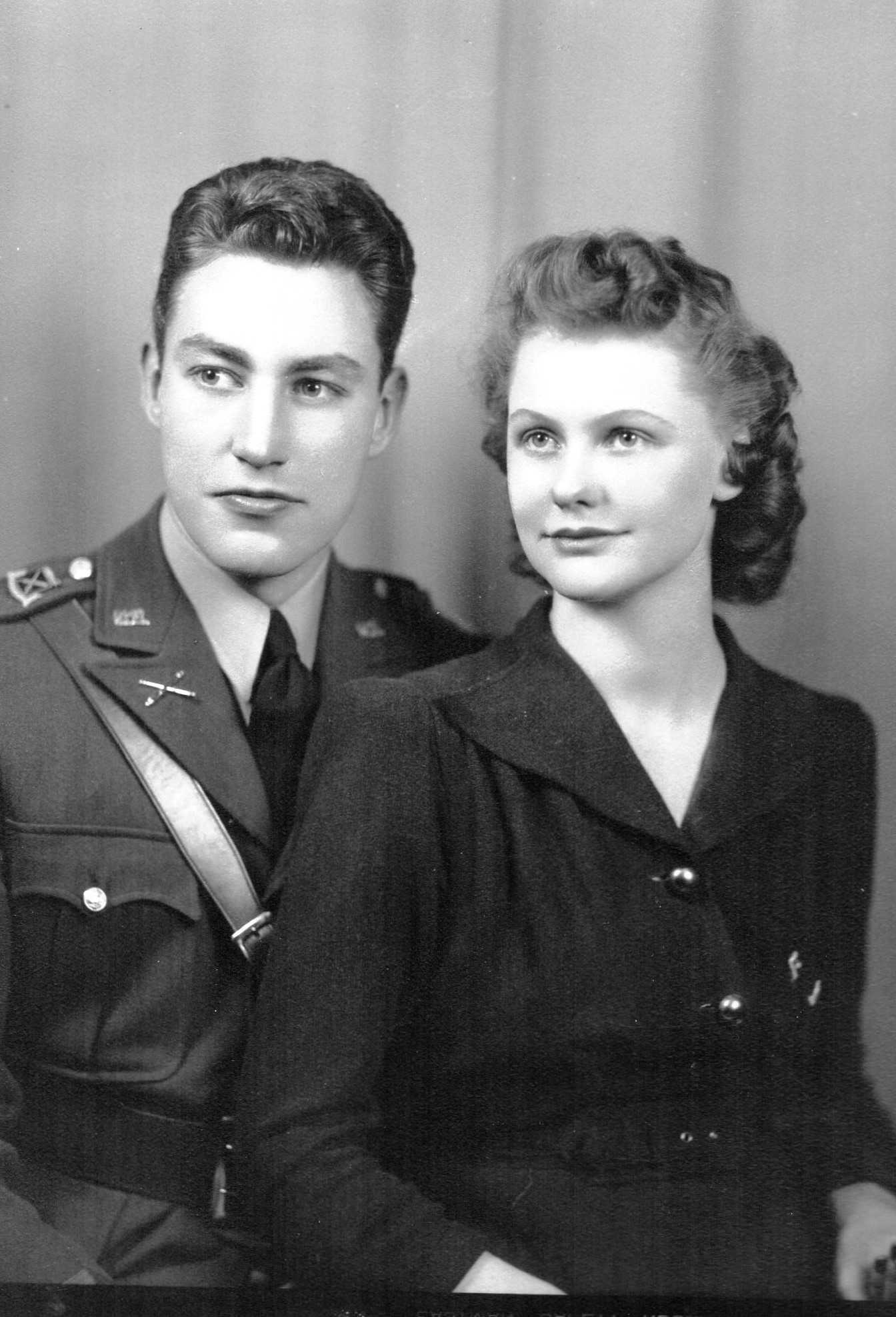Just after graduation, Dell made second lieutenant in the US Army. While fighting in Europe, Doris had their daughter Diane.