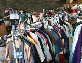 The surplus sale from summer 2012 sold a number of clothing items. This year's sale will be June 15 and 16. Photo credit: Today@Colorado State
