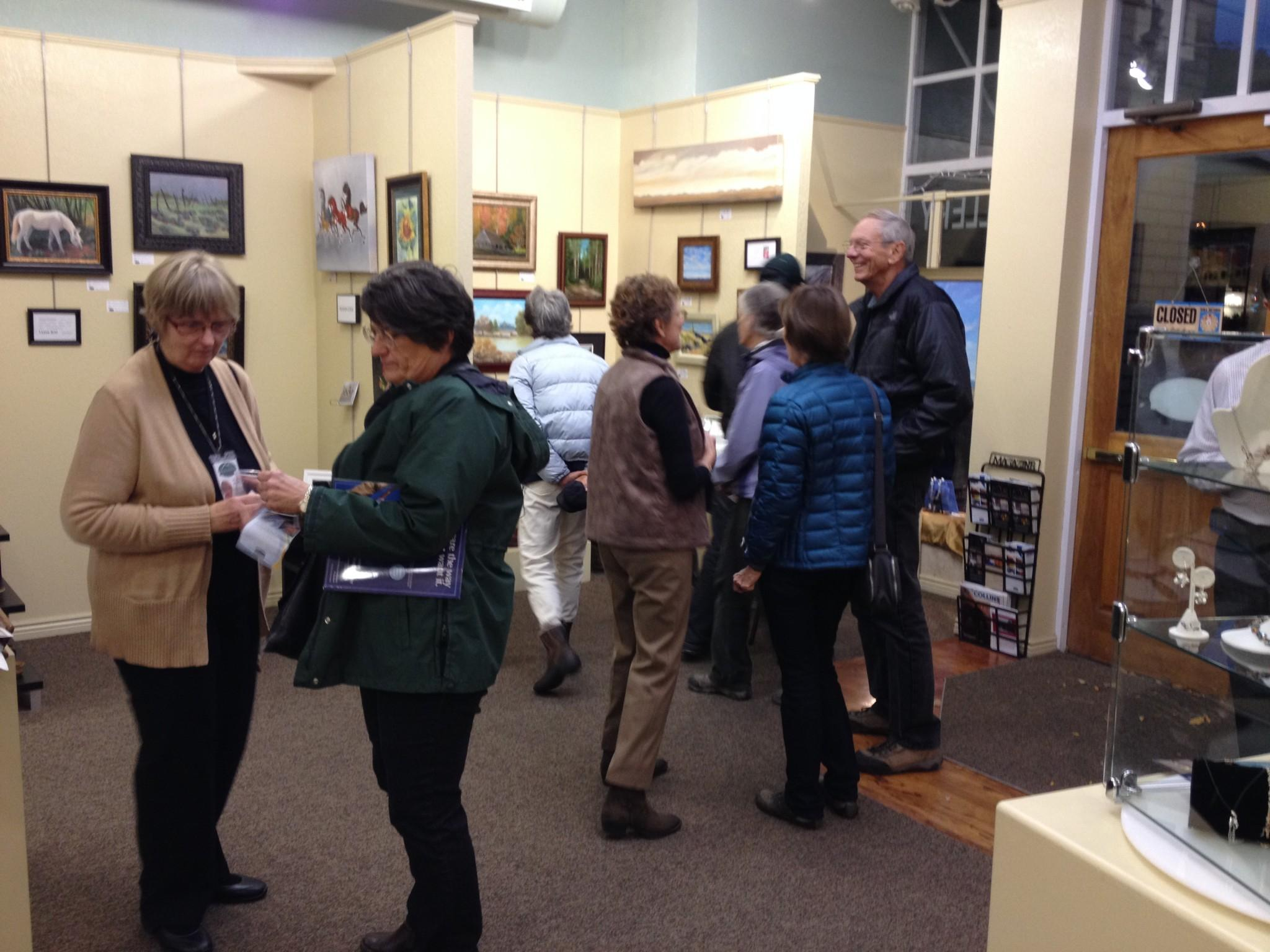 Every first Friday, residents of Fort Collins head to Old Town to check out the latest art. Photo by John Sheesley