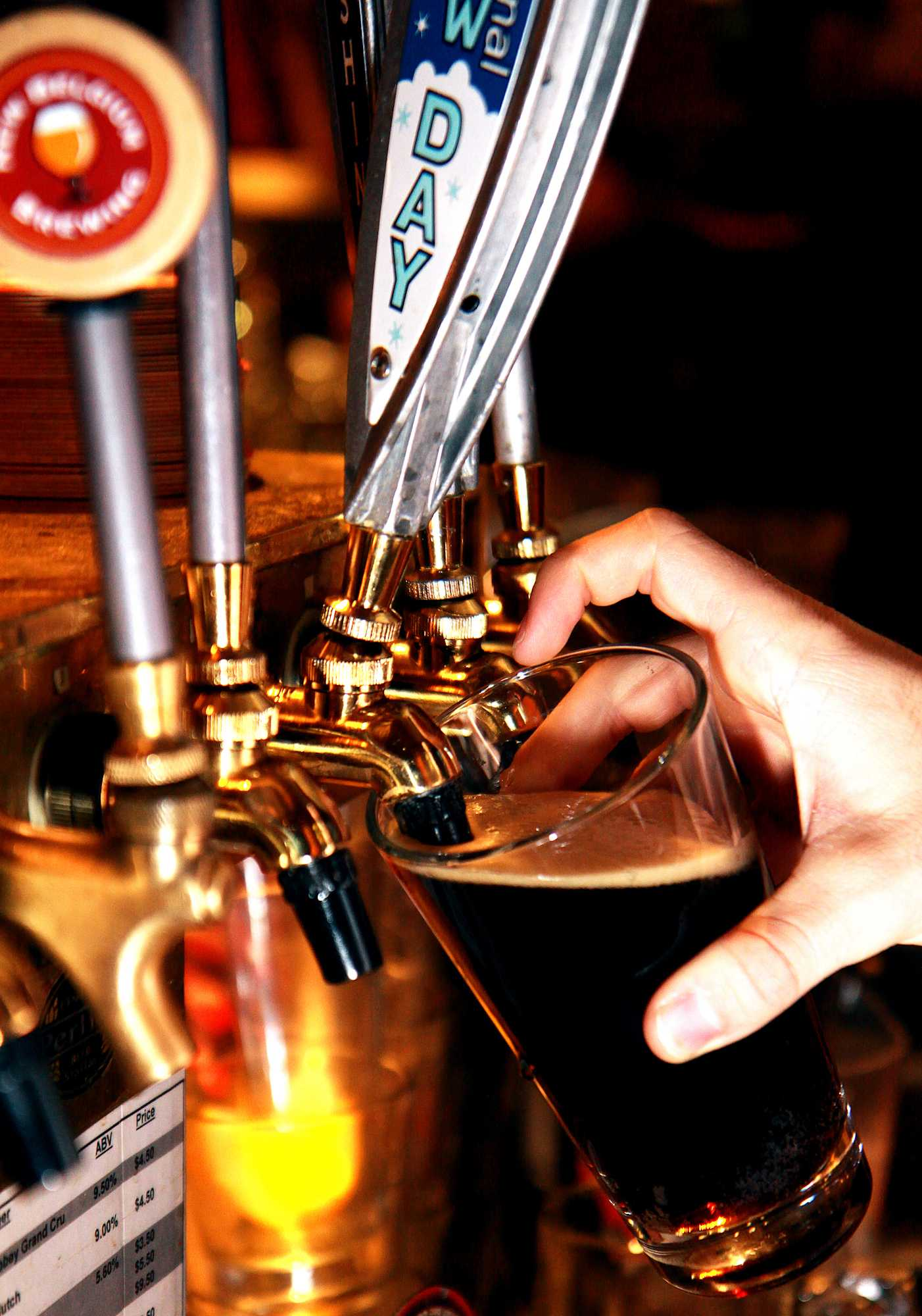 A beer is poured at a local Fort Collins bar.