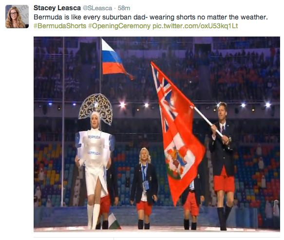 Opening Ceremony, Sochi, bermuda