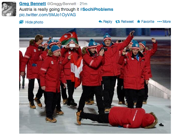 Sochi, opening ceremony, austria, fall