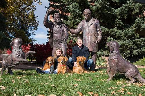 Siblings Nan and Brett Stuart of Longmont have made a $10 million donation to the Colorado State University Flint Animal Cancer Center. The Stuarts made the gift on behalf of the Hadley and Marion Stuart Foundation; it is the largest single contribution in the history of the cancer center. / Courtesy of Colorado State University