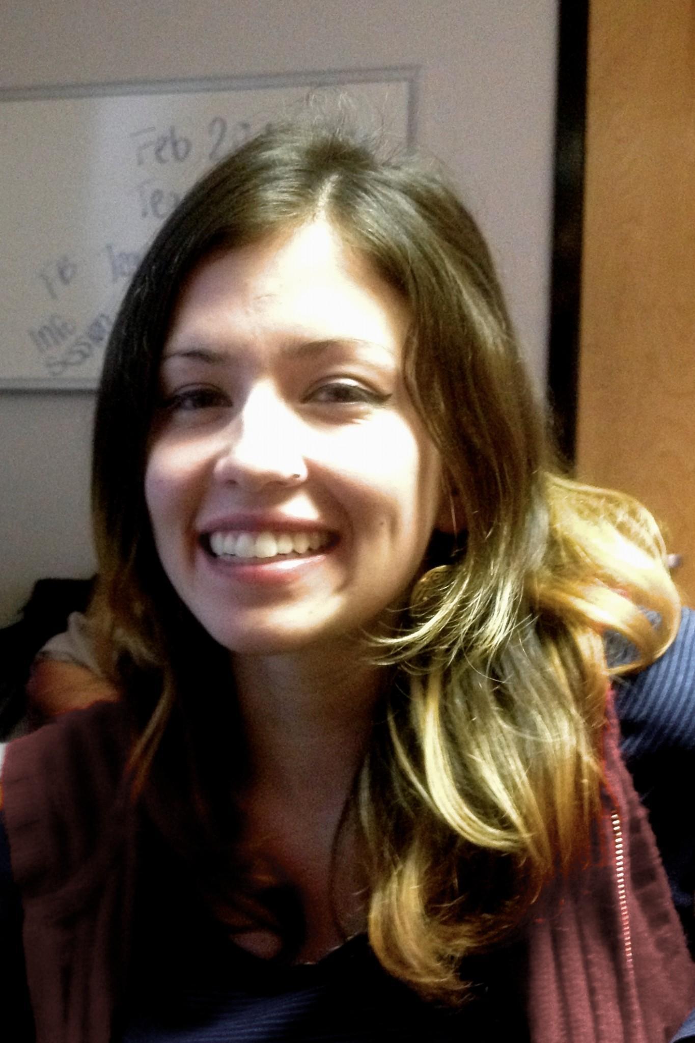 Cassandra Buitron, junior English major, questions Facebook's new gender options.
