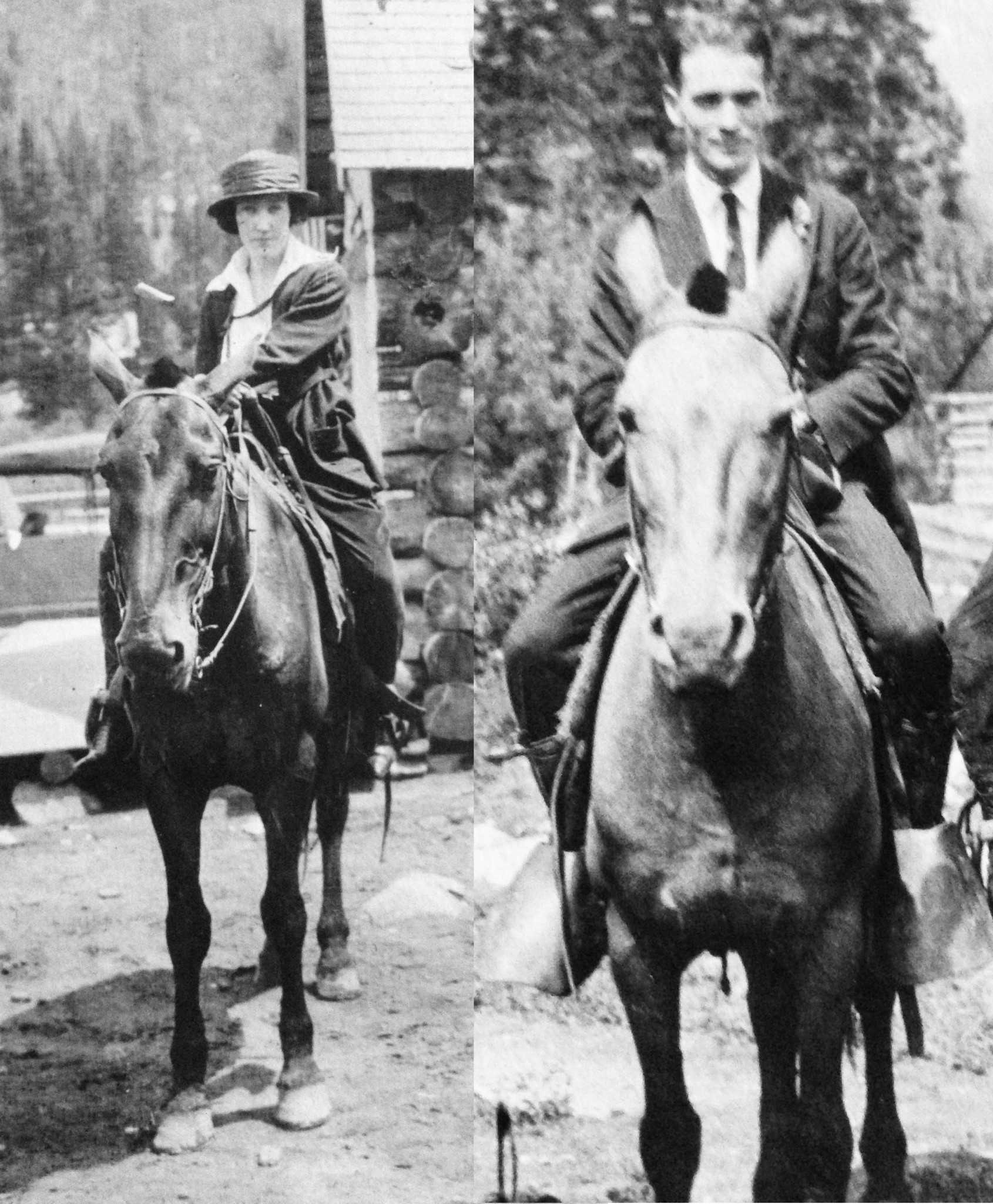 My paternal grandparents riding at their cabin in the mountains in Utah 1920. (Photos from family archives)