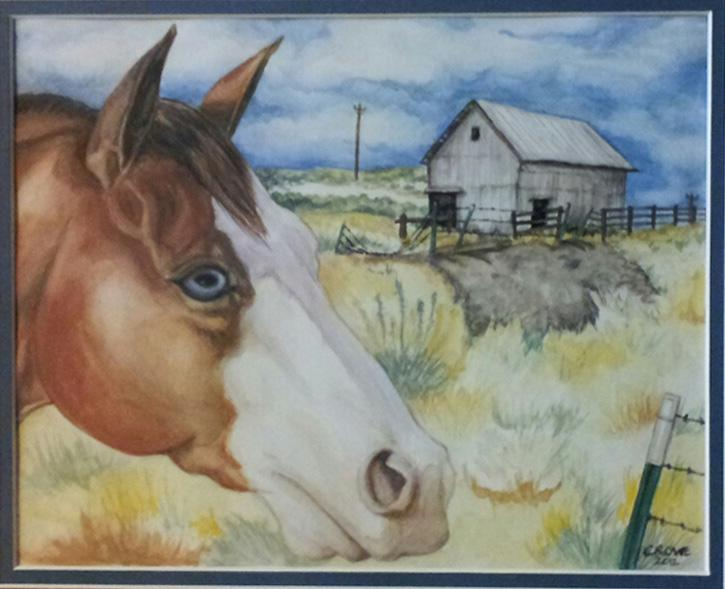 Watercolor painting by Victoria Dixie Crowe. (2012)