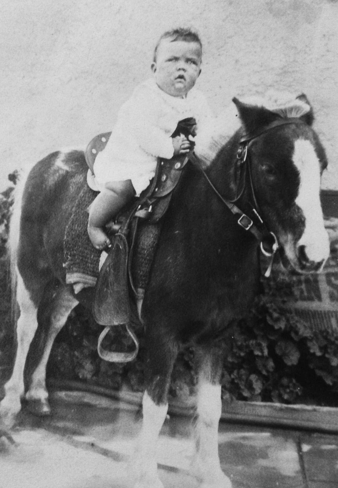 My mother riding around 1931. (Photo from family archives)