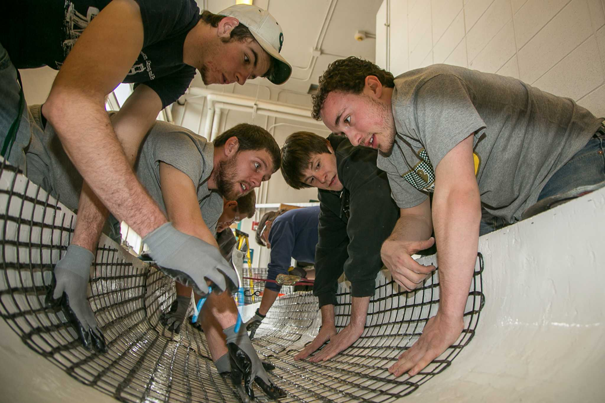 A group of civil engineering students build a concrete canoe for the annual competition. The students will be racing the canoe at the south bay of Horsetooth Reservior on Saturday from 12-4pm.