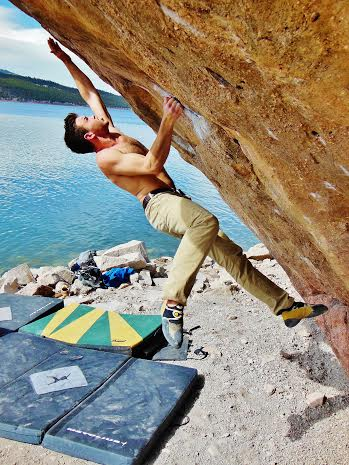 Bryan Karr, mechanical engineer junior on Kahuna Boulder.