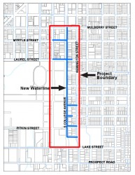 Detailed map of current construction project along College Avenue. Provided by the city website.