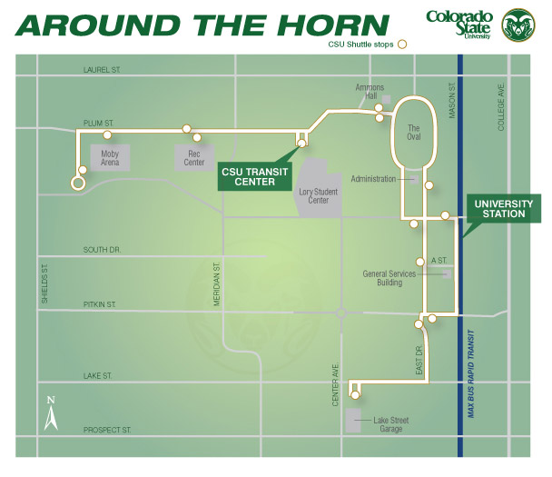 Map of the 14 stops Around the Horn makes. (Photo Credits: Colorado State University)