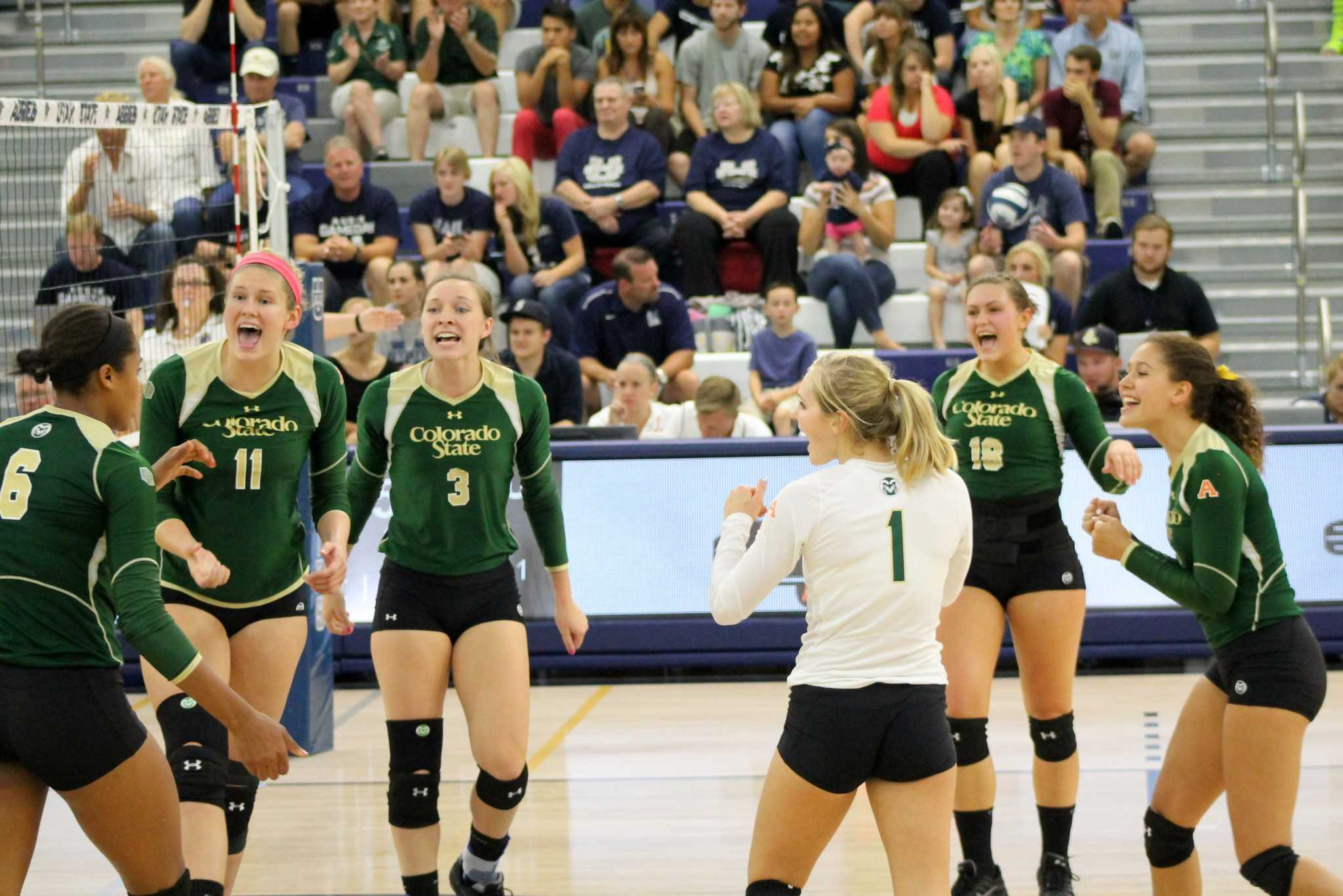 No. 7 CSU volleyball team wins conference opener at Utah State