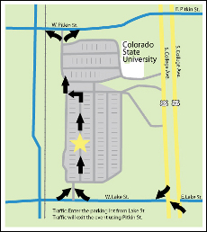 Event map courtesy of the City of Fort Collins.