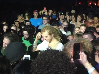 Hall performed his encore in the crowd, surrounded by fans. (Photo courtesy of Kedge Stokke)