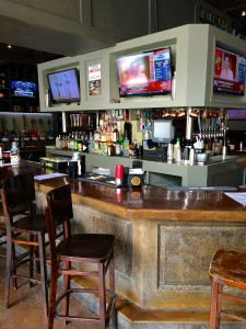 The bar at the Blind Pig