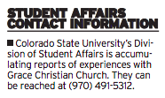 Student Affairs Contact Information INFOG