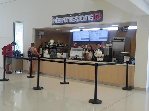 Intermissions, serving Starbucks coffee, is located in the LSC near the Curfman Gallery. (Photo credits: Hannah DItzenberger)