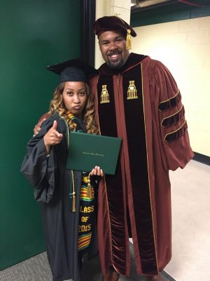 Bimper and AJ Newton after her graduation in May 2015. (Photo Courtesy of AJ Newton)