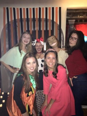 Katie Cleary, top left, and friends on Halloween. (Photo courtesy of Katie Cleary)