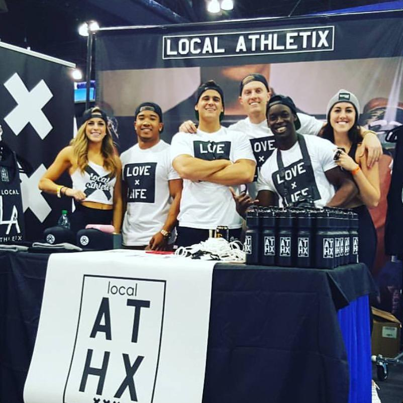 The Local Athletix team at their booth at the LA Fit Expo. The expo took place Jan. 22-24. Photo courtesy of Local Athletix.