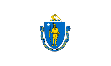 Massachusetts state flag (Photo Credit: Wikipedia).