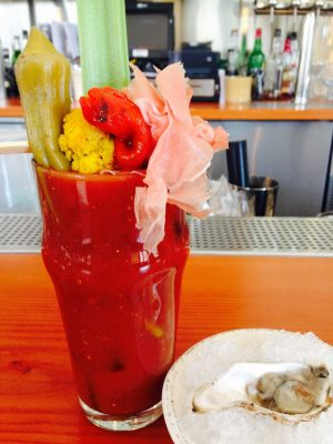 A Bloody Mary from The Kitchen at 100 N College Ave. (Photo: Ashley Haberman.)