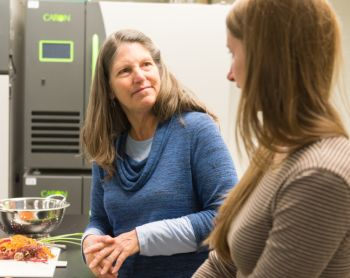 Colorado State University Food Science and Human Nutrition associate professor Marisa Bunning teaches food safety, March 31. (Photo courtesy of SOURCE.)