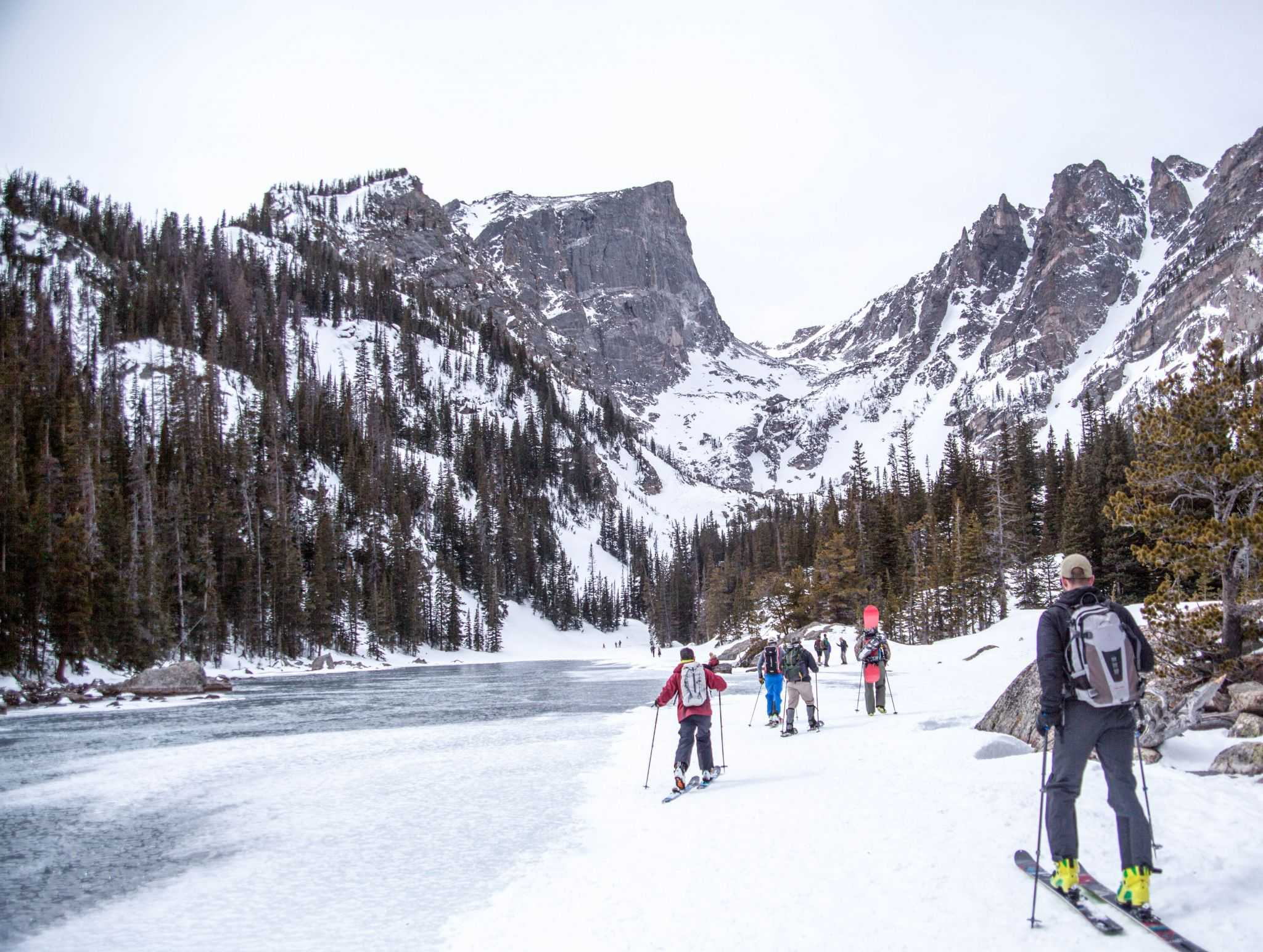 Eli, leading the way across a frozen lake. Photo: Nevin Fowler