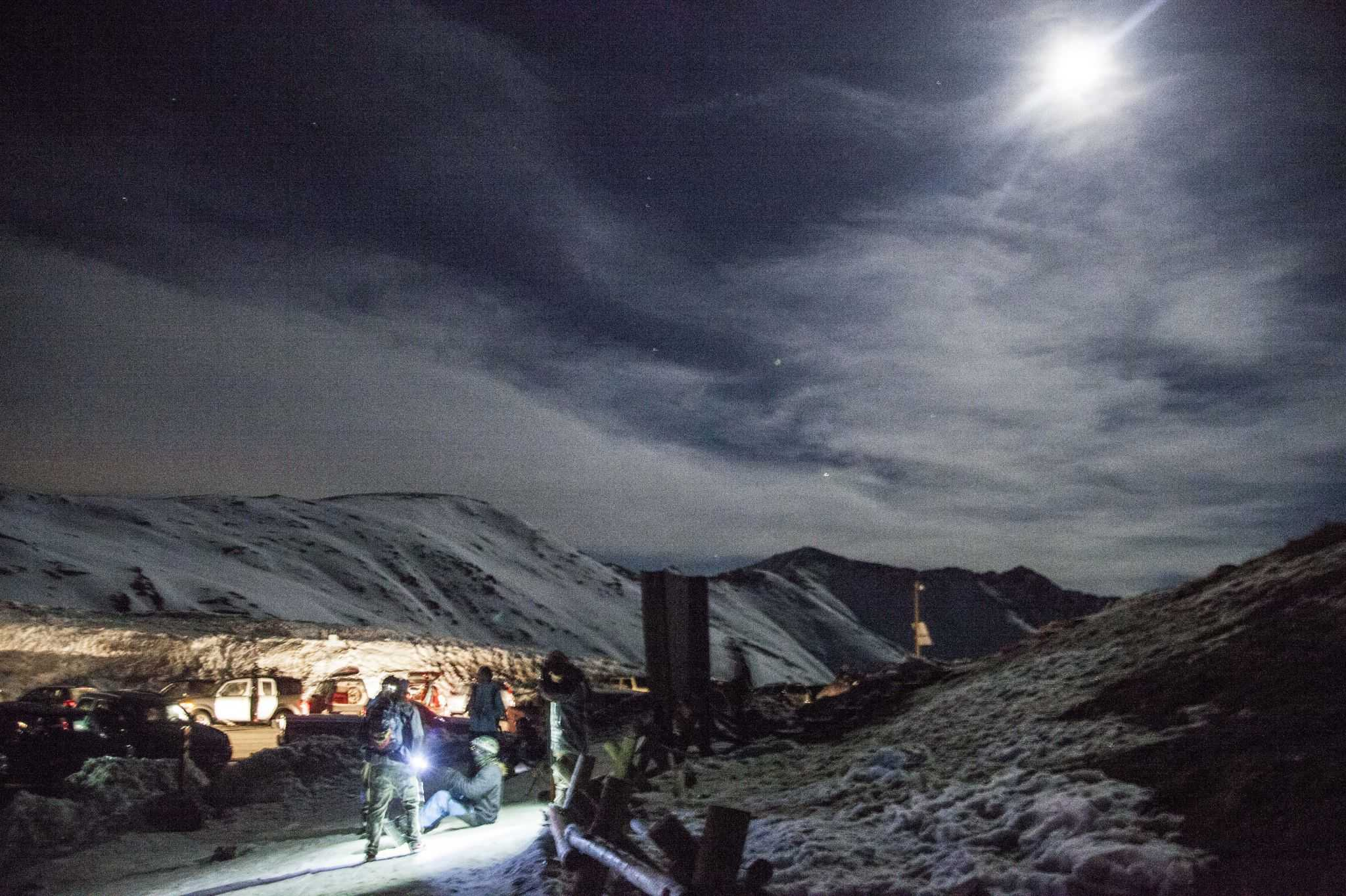 Skiers and boarders ready to hit the slopes  of Loveland Pass. Photo by: Nevin Fowler