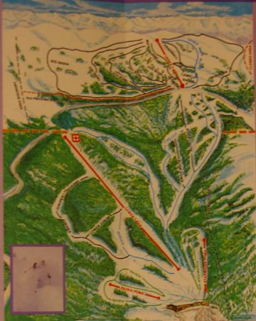 Old trail map of Hidden Valley ski area. (Photo by: the Boulder Outdoor Centers)