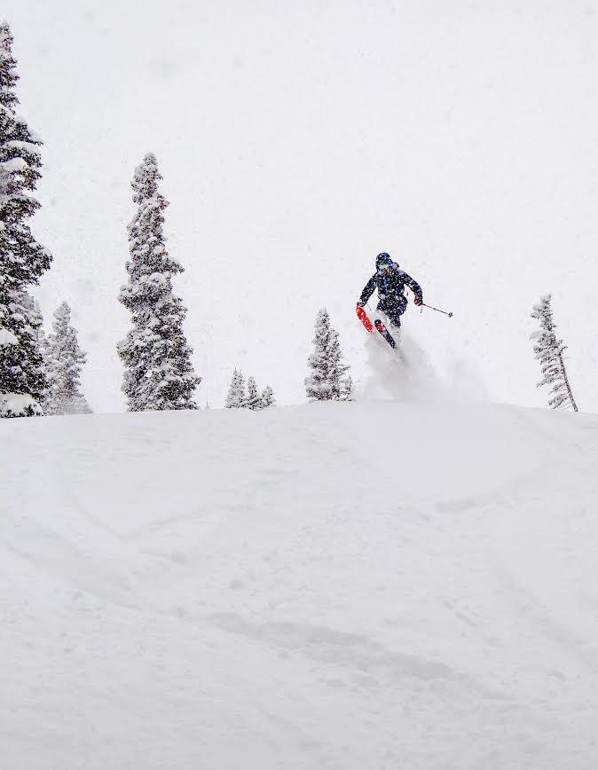 Derek Campbell catching some air on the upper slopes of Hidden Valley. (Photo by: Nevin Fowler)