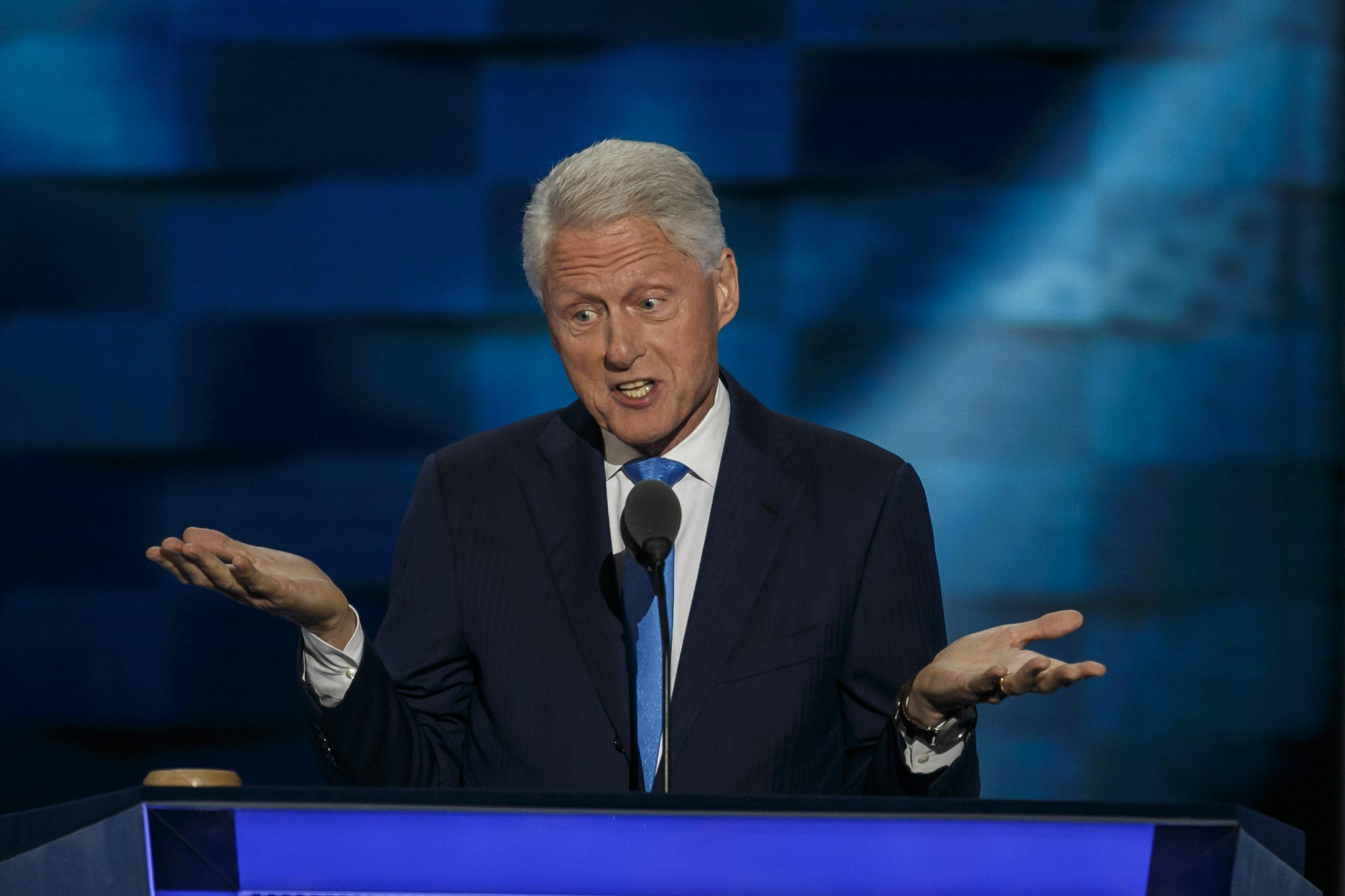 Former President Bill Clinton speaks at the Democratic National Convention in Philadelphia on July 26, 2016. A memo released by WikiLeaks on Wednesday, Oct. 26, 2016, indicates a former aide arranged for $50 million in payments for the former president, part of a complicated mingling of lucrative business deals and charity work of the Clinton Foundation. (Marcus Yam/Los Angeles Times/TNS)