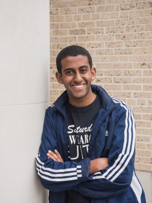 A college student smiling