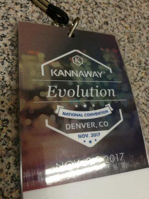 Kannway Evolution convention badge for Denver, Colorado