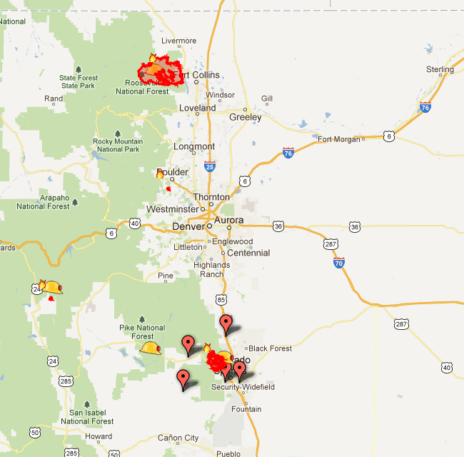 Check Out Google's Real Time Map Of Colorado Wildfires