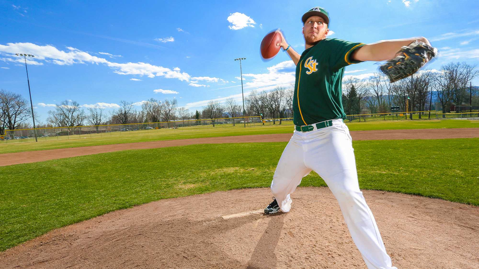 MJ McPeek now using arm strength on pitching mound for CSU baseball