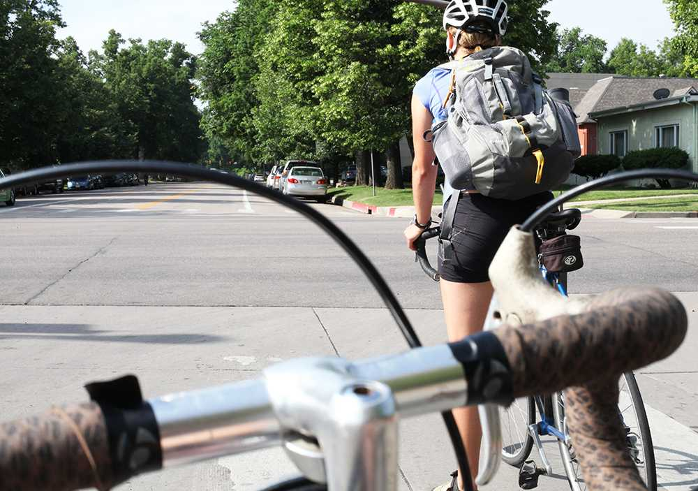 The perspective of a Fort Collins cyclist. Photo by Dina Alibrahim Fike.