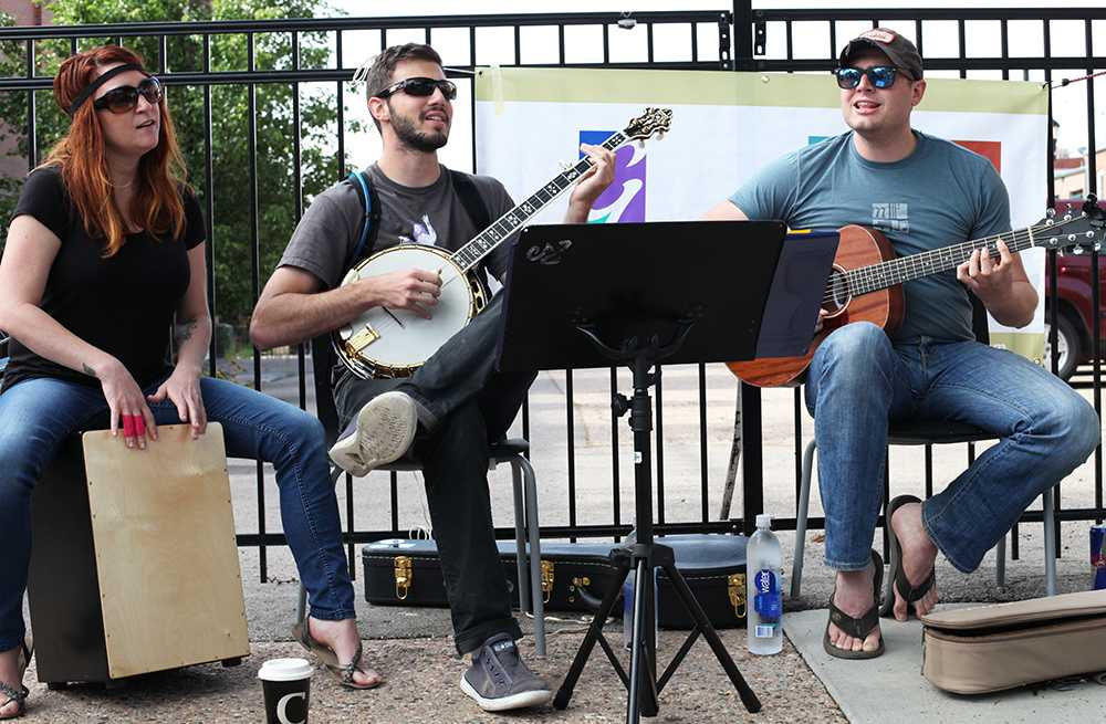 The Good Ones Taken plays live music in Old Town for Bike to Work Day. Photo by Dina Alibrahim Fike.