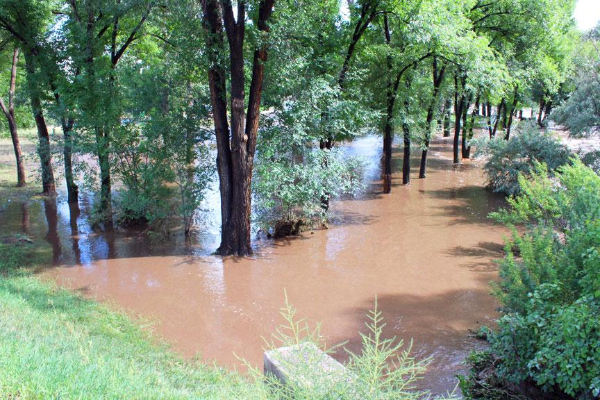 On September 13, 2013, West County Road 24 experienced high levels of flood waters.