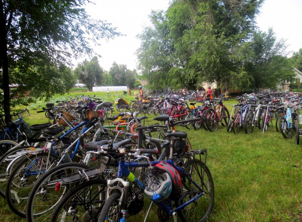 The bike racks near the festival's entrance were almost completely full by 5 p.m. (Photo Credit: Erick Plattner)