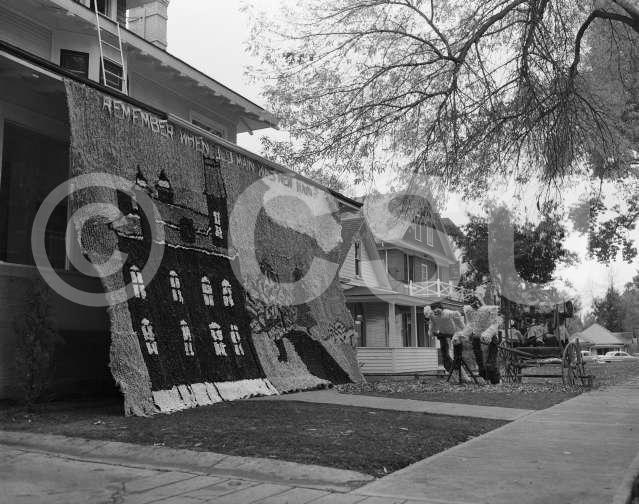 Photo of Homecoming Decorations taken for Student Activities on October 26, 1953. Photo courtesy of CSU Photography, Department of Creative Services.