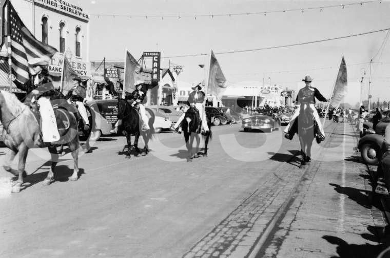 Student Activities-Freshman parade for Homecoming, October 1948. Photo courtesy of CSU Photography, Department of Creative Services.