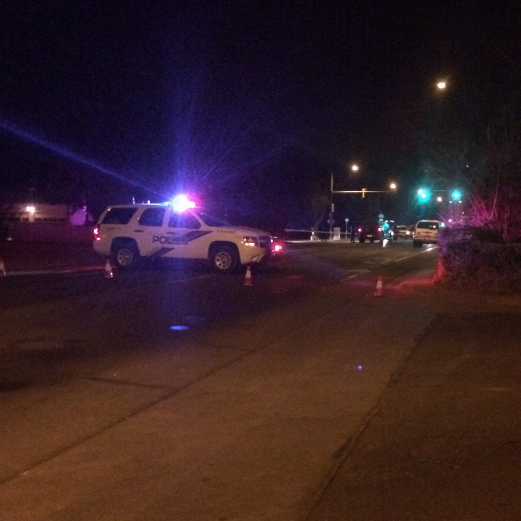 Fort Collins police blocked off Taft Hill Road Friday night in search of an armed suspect at large.